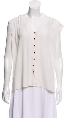 Dolce Vita Sleeveless Button-Up Top