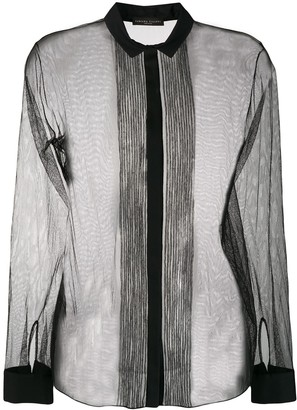 Fabiana Filippi long-sleeve sheer blouse