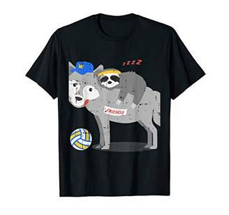 IDEA Volleyball Wolf Sloth Cool Cute Birthday Gift Outfit T-Shirt