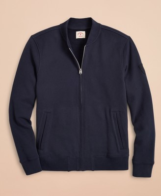 Brooks Brothers French Terry Bomber Sweater Jacket