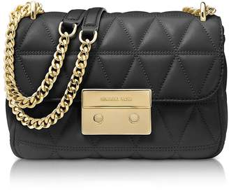 Michael Kors Sloan Small Black Quilted Leather Shoulder Bag