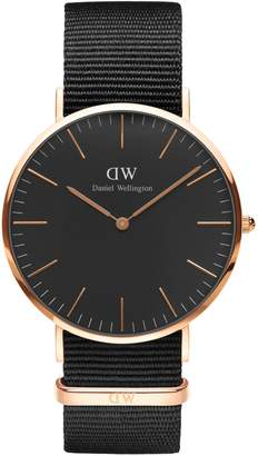 Daniel Wellington Cornwall Goldtone Nylon Strap Watch