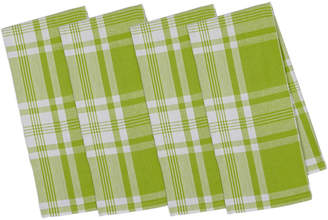 Design Imports Set Of 4 Pop Kitchen Window Plaid Dish Towels