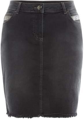 Label Lab Denim beaded skirt