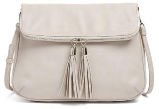 Bp. Foldover Crossbody Bag - Grey $39 thestylecure.com