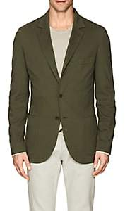 Loro Piana Men's Cotton-Blend Piqué Three-Button Sportcoat-Olive