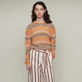 Maje Sweater in zigzag knit