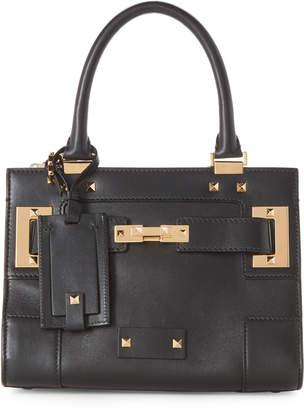 Valentino Black Rockstud Small Leather Satchel
