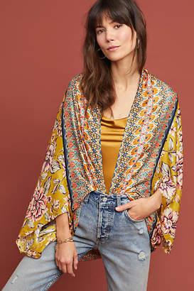 Anthropologie Kachel x Floral Silk Cocoon Kimono