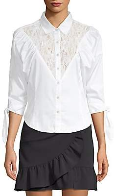 Opening Ceremony Women's Lace Button-Front Blouse