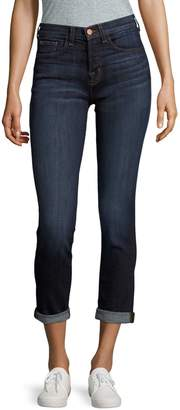 J Brand Whiskered Cotton-Blend Jeans