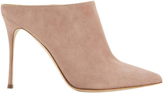 Sergio Rossi Godiva Open Back Suede Pumps