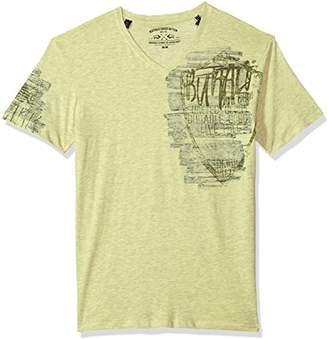 Buffalo David Bitton Men's Tirage Short Sleeve V-Neck T-Shirt