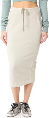 Rick Owens DRKSHDW Soft Pillar Skirt $590 thestylecure.com