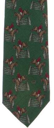 Gucci Wool Equestrian Tie