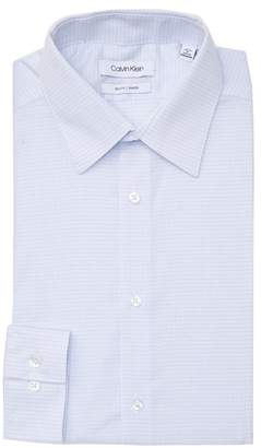 Calvin Klein Dobby Check Slim Fit Stretch Dress Shirt