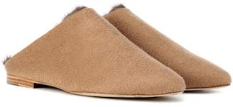 Max Mara Pensile mink fur-trimmed slippers