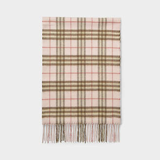 Burberry Vintage Check Cashmere Scarf In Ice Pink Cashmere