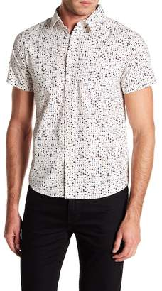 Wellington Colorblock Dotted Print Short Sleeve Shirt