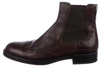 Tod's Wingtip Leather Chelsea Boots