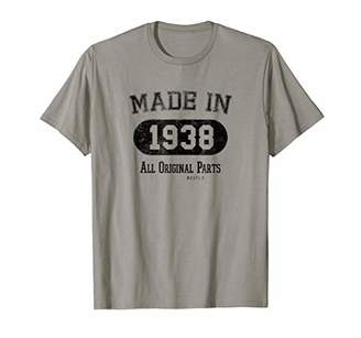 PeakTee Made in 1938 All Original Parts 80th Birthday Shirt