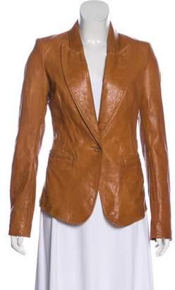 Rachel Zoe Leather Structured Blazer