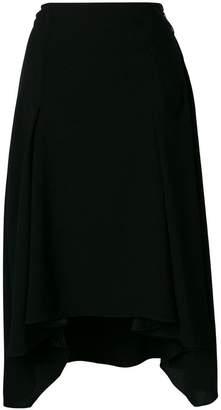 Sonia Rykiel asymmetric hem midi skirt