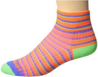 Wrightsock Coolmesh II Quarter Stripes Quarter Length Socks Shoes