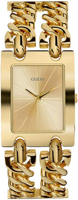 GUESS Women's Gold-Tone Stainless Steel Chain Bracelet Watch 36mm