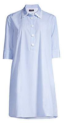 Piazza Sempione Women's Striped Macramé Shirtdress