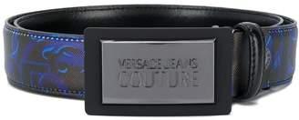Versace graphic print belt