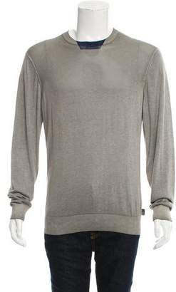 Armani Collezioni Woven Crew Neck Sweater