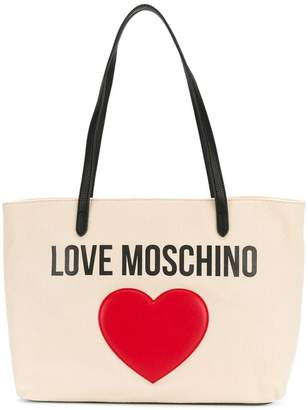 Love Moschino heart embellished logo tote
