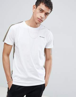 Bellfield T-Shirt With Arm Tape In White