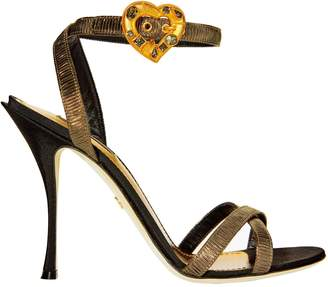 Dolce & Gabbana Heart Buckle Lurex Sandals