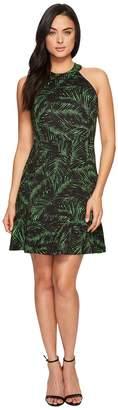 MICHAEL Michael Kors Abstract Palm Ponte Dress Women's Dress