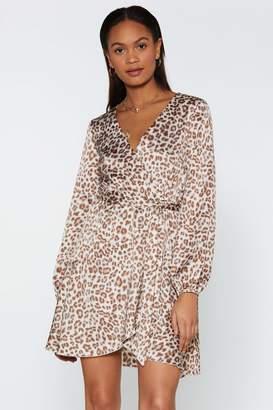 Nasty Gal Tattle Tail Leopard Dress