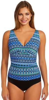 Croft & Barrow Women's Waist Minimizer Shirred One-Piece Swimsuit