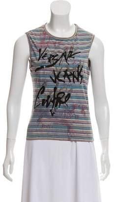 Versace Striped Logo Top