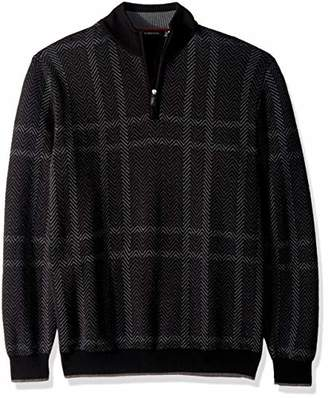 Bugatchi Men's Extra Fine Merino Wool Long Sleeve Sweater