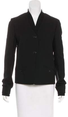 Alexander Wang Wool-Blend Rib Knit-Trimmed Blazer
