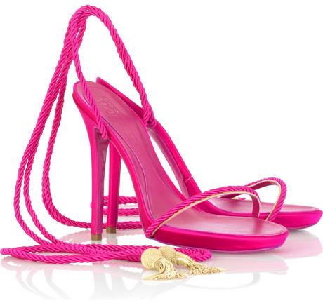 Alexander McQueen Satin rope-tie sandal