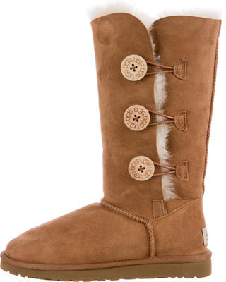 UGG Australia Suede Round-Toe Mid-Calf Boots $125 thestylecure.com