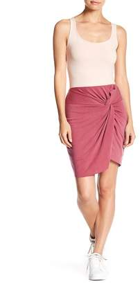 Socialite Twist Front Washed Skirt