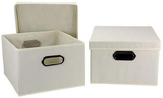 Household Essentials Collapsible Storage Box Set, Natural