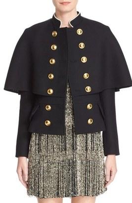 Women's Burberry Prorsum Military Cape Coat $2,595 thestylecure.com