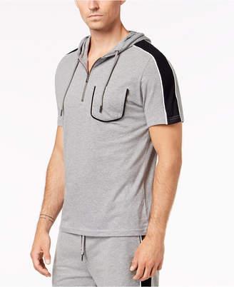 INC International Concepts I.n.c. Men's Striped Short-Sleeve Hoodie