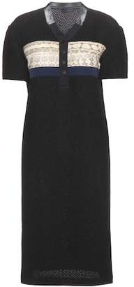 Proenza Schouler Snakeskin-trimmed shift dress