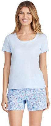 Jockey Women's Pajamas: Short Sleeve Tee & Boxer Shorts 2-Piece PJ Set