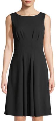 Taylor Fit & Flare Scuba Dress